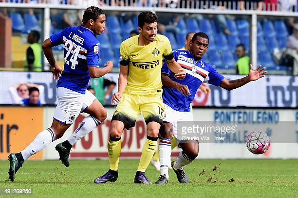 Alex Telles of FC Internazionale in action during the Serie A match between UC Sampdoria and FC Internazionale Milano at Stadio Luigi Ferraris on...