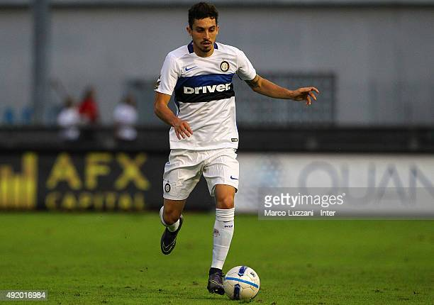 Alex Telles of FC Internazionale Milano in action during the friendly match between Chiasso and FC Internazionale on October 9 2015 in Chiasso...