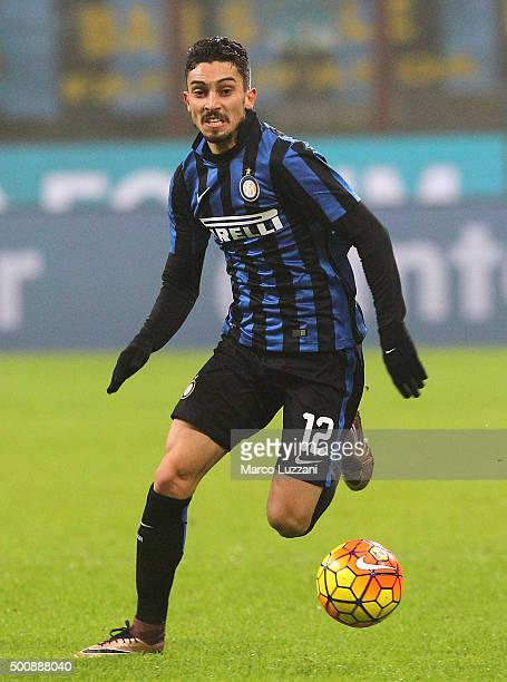 Alex Telles of FC Internazionale Milano in action during the Serie A match between FC Internazionale Milano and Genoa CFC at Stadio Giuseppe Meazza...