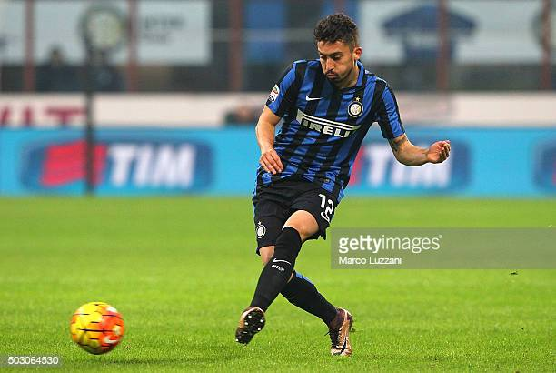 Alex Telles of FC Internazionale Milano in action during the Serie A match between FC Internazionale Milano and SS Lazio at Stadio Giuseppe Meazza on...