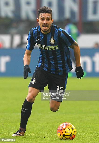 Alex Telles of FC Internazionale Milano in action during the Serie A match between FC Internazionale Milano and Carpi FC at Stadio Giuseppe Meazza on...