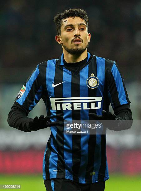 Alex Telles of FC Internazionale Milano looks on during the Serie A match between FC Internazionale Milano and Frosinone Calcio at Stadio Giuseppe...