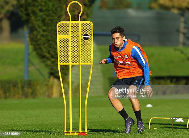 Alex Telles of FC Internazionale Milano trains during FC Internazionale training session at the club's training ground on October 19 2015 in Appiano...