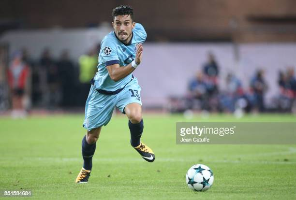 Alex Telles of FC Porto during the UEFA Champions League group G match between AS Monaco and FC Porto at Stade Louis II on September 26 2017 in...