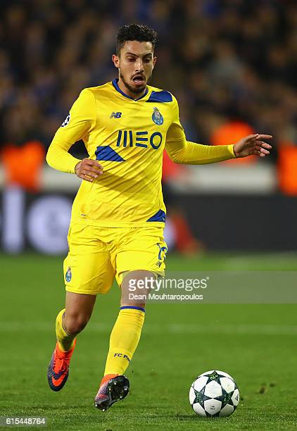 Alex Telles of FC Porto in action during the UEFA Champions League Group G match between Club Brugge KV and FC Porto at Jan Breydel Stadium on...