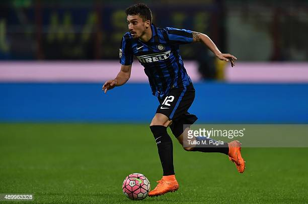 Alex Telles of Internazionale Milano in action during the Serie A match between FC Internazionale Milano and Hellas Verona FC at Stadio Giuseppe...