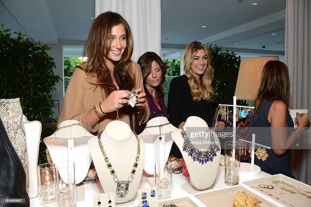 Alex Thomopoulos and Arianna Thomopoulos attend the Stella & Dot Trunk Show Benefiting The Noreen Fraser Foundation at The Bazaar at the SLS Hotel Beverly Hills on October 14, 2013 in Los Angeles, California.