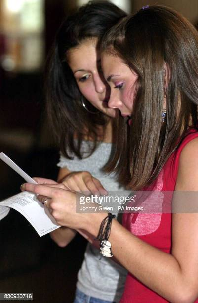 Alex Thrift is joined by her friend Rania Jumaily as she opens her exam results to discover 2 'B's' and a 'C' at ALevel and a 'B' at ASLevel at St...