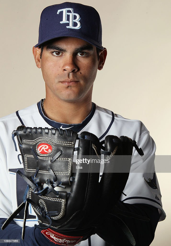 Alex Torres of the Tampa Bay Rays poses for a portrait during the Tampa Bay Rays Photo Day on February 22 2011 at the Charlotte Sports Complex in...