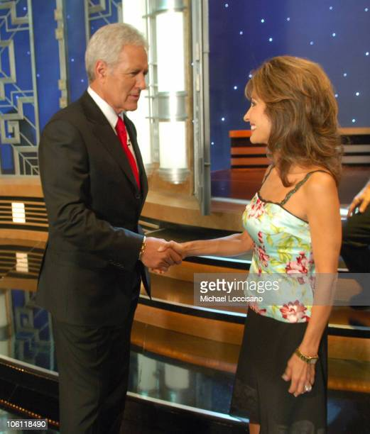 Alex Trebek and Susan Lucci during 'Celebrity Jeopardy' Celebrates 5000th Episode and 23rd Season at Radio City Music Hall in New York City New York...
