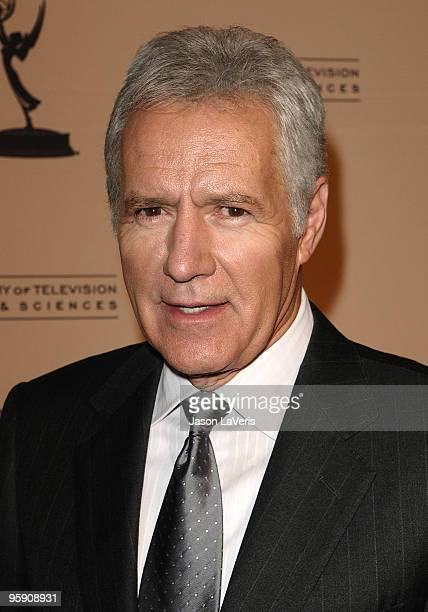 Alex Trebek attends the Academy of Television's 19th annual Hall of Fame induction gala at Beverly Hills Hotel on January 20 2010 in Beverly Hills...