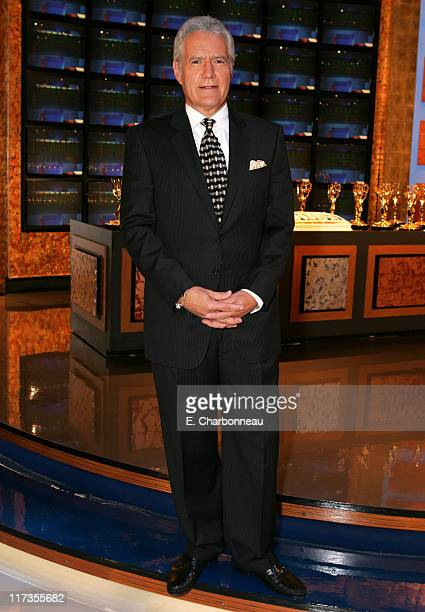 Alex Trebek during Jeopardy Inducted Into The Guinness Book of World Records and DVD Launch Celebration at Sony Pictures Lot Stage 10 in Culver City...