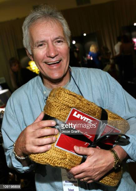 Alex Trebek during On 3 Productions Gifting Suite at The 2007 Daytime Emmy Awards Day 1 at Kodak Theatre in Los Angeles California United States