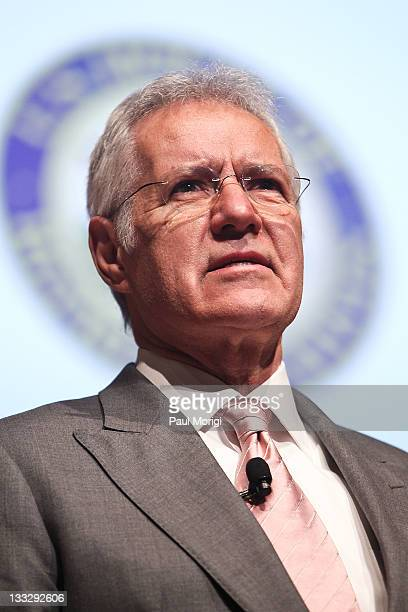Alex Trebek host of the game show Jeopardy moderates the All Children Reading A Grand Challenge for Development Launch at Ronald Reagan Building on...
