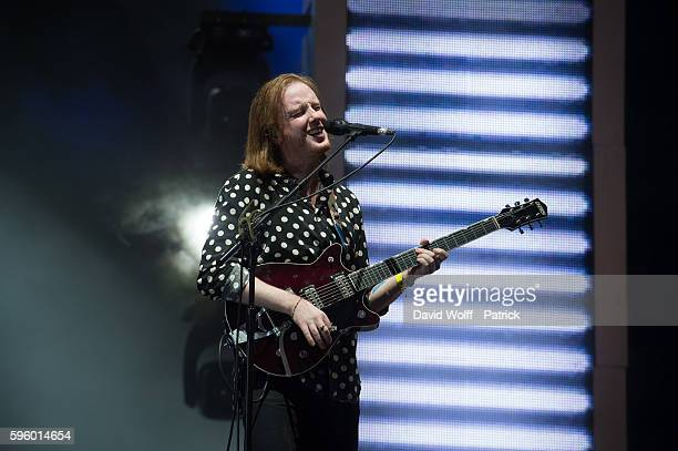Alex Trimble from Two Door Cinema Club performs at Rock en Seine on August 26 2016 in Paris France