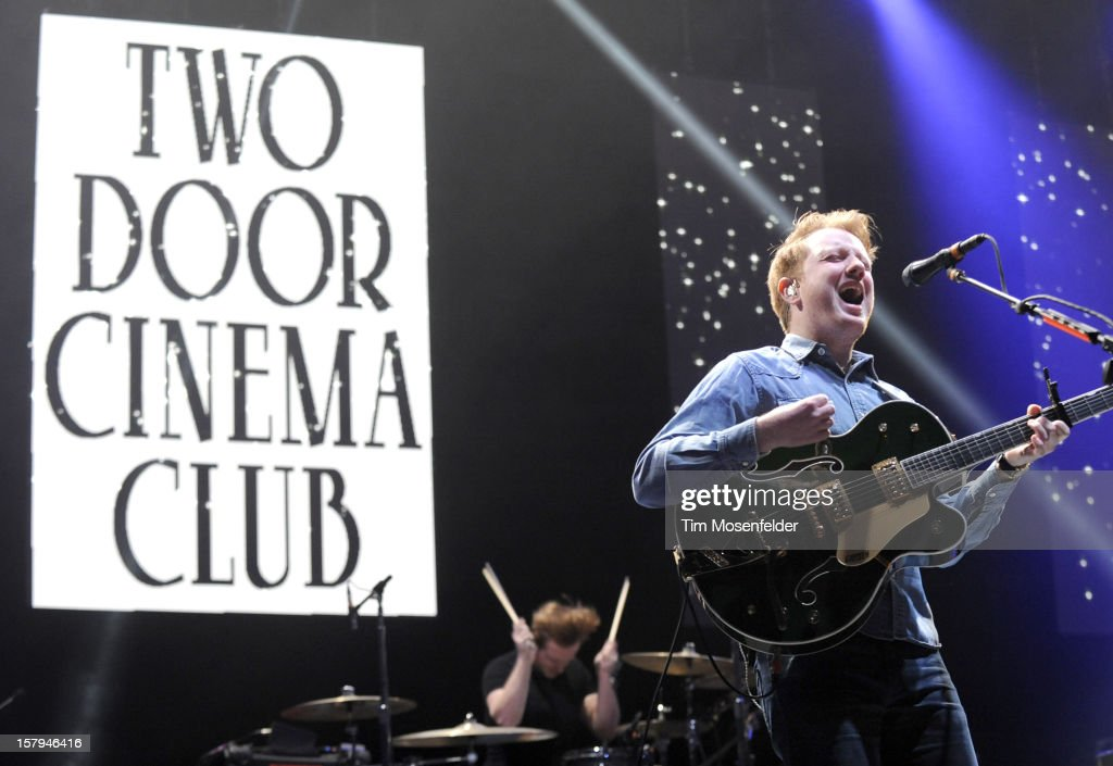 <a gi-track='captionPersonalityLinkClicked' href=/galleries/search?phrase=Alex+Trimble&family=editorial&specificpeople=6920992 ng-click='$event.stopPropagation()'>Alex Trimble</a> of Two Door Cinema Club performs as part of Live 105's Not So Silent Night at Oracle Arena on December 7, 2012 in Oakland, California.