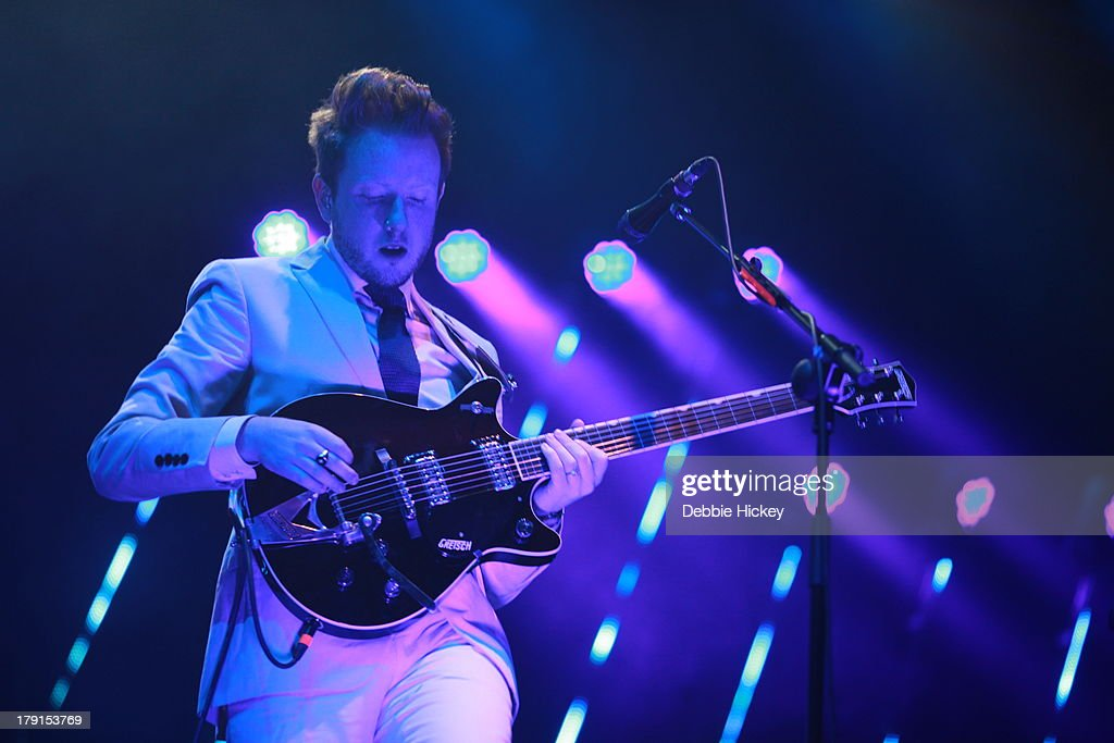 Alex Trimble of Two Door Cinema Club performs at Day 2 of Electric Picnic at Stradbally Hall Estate on August 31, 2013 in Dublin, Ireland.
