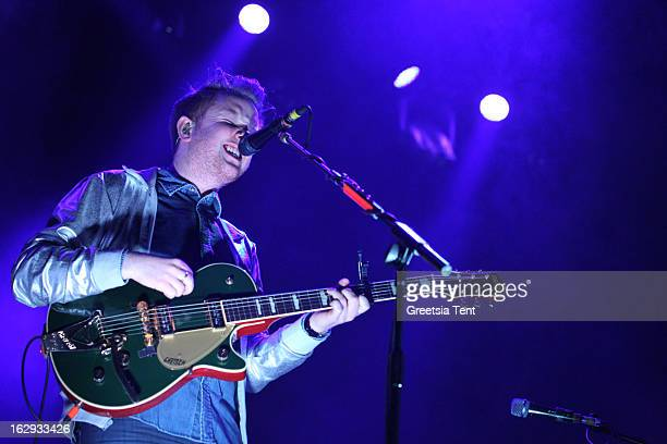 Alex Trimble of Two Door Cinema Club performs at the Heineken Music Hall on March 1 2013 in Amsterdam Netherlands
