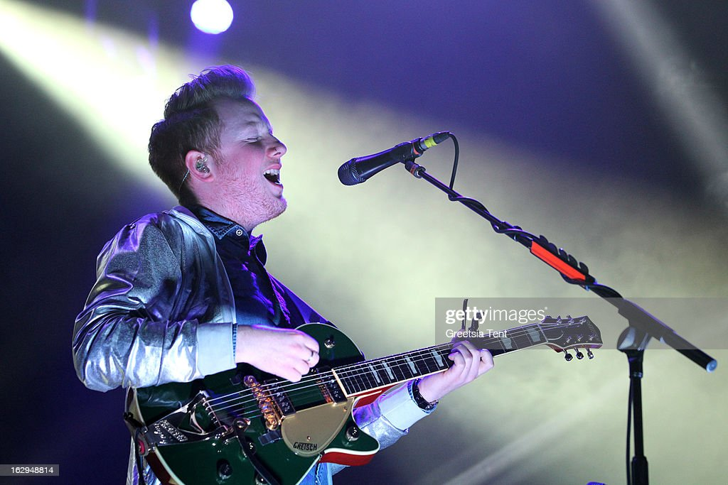 <a gi-track='captionPersonalityLinkClicked' href=/galleries/search?phrase=Alex+Trimble&family=editorial&specificpeople=6920992 ng-click='$event.stopPropagation()'>Alex Trimble</a> of Two Door Cinema Club performs at the Heineken Music Hall on March 1, 2013 in Amsterdam, Netherlands.