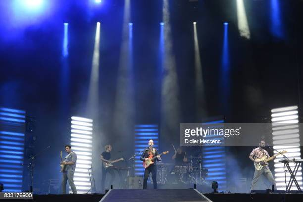 Alex Trimble of Two Door Cinema Club performs during Day 6 of Sziget Festival 2017 on August 14 2017 in Budapest Hungary