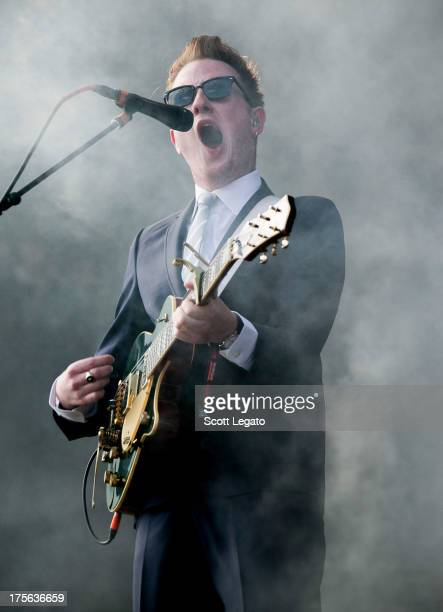 Alex Trimble of Two Door Cinema Club performs during Lollapalooza 2013 at Grant Park on August 4 2013 in Chicago Illinois