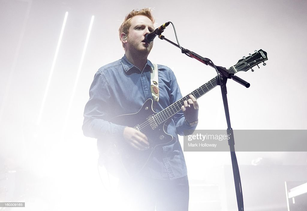 <a gi-track='captionPersonalityLinkClicked' href=/galleries/search?phrase=Alex+Trimble&family=editorial&specificpeople=6920992 ng-click='$event.stopPropagation()'>Alex Trimble</a> of Two Door Cinema Club performs in Southampton at Southampton Guildhall on January 28, 2013 in Southampton, England.