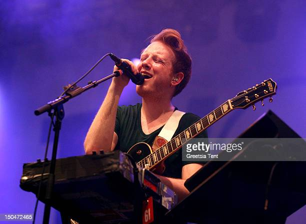 Alex Trimble of Two Door Cinema Club performs live at Lowlands Festival on August 18 2012 in Biddinghuizen Netherlands