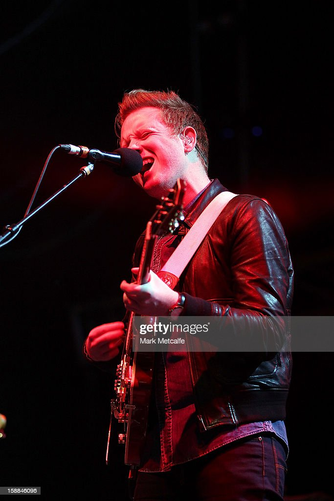 Alex Trimble of Two Door Cinema Club performs live on stage at The Falls Music and Arts Festival on December 31, 2012 in Lorne, Australia.