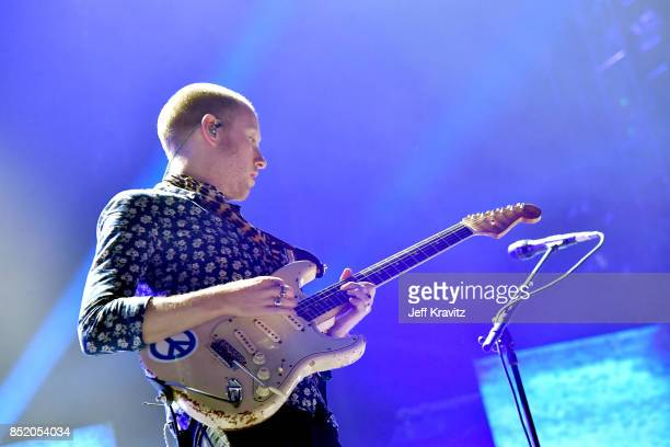 Alex Trimble of Two Door Cinema Club performs on Downtown Stage during day 1 of the 2017 Life Is Beautiful Festival on September 22 2017 in Las Vegas...