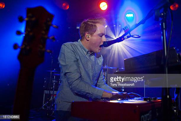 Alex Trimble of Two Door Cinema Club performs on stage at HMV Institute on September 4 2012 in Birmingham United Kingdom