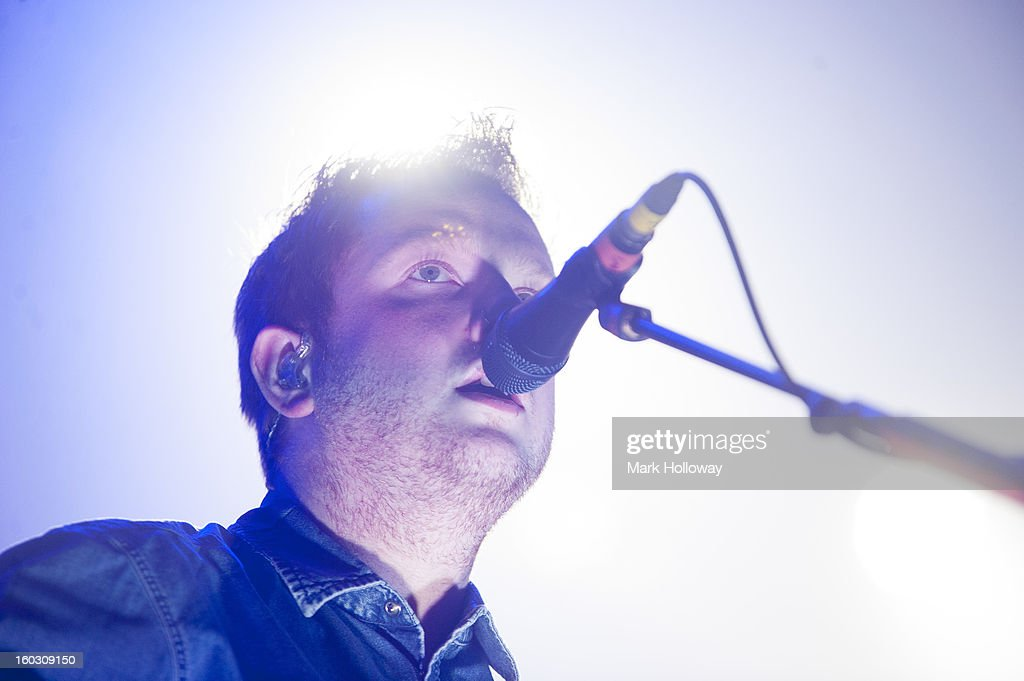 <a gi-track='captionPersonalityLinkClicked' href=/galleries/search?phrase=Alex+Trimble&family=editorial&specificpeople=6920992 ng-click='$event.stopPropagation()'>Alex Trimble</a> Two Door Cinema Club perform in Southampton at Southampton Guildhall on January 28, 2013 in Southampton, England.