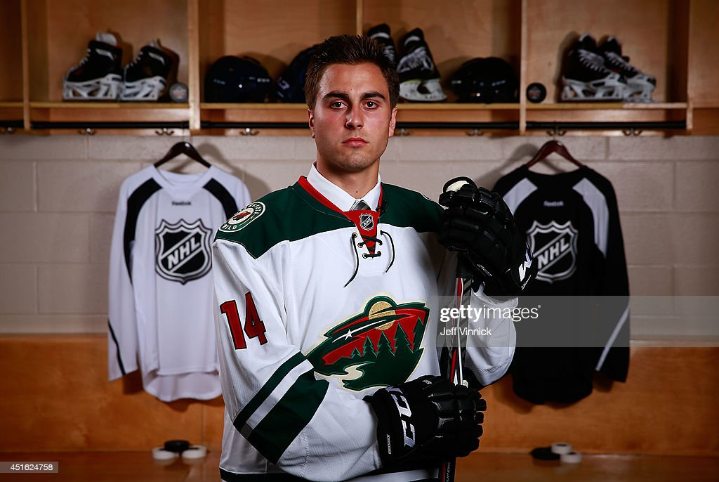 Alex Tuch, 18th overall pick of the Minnesota Wild, poses for a portrait during the 2014 NHL Entry Draft at Wells Fargo Center on June 27, 2014 in Philadelphia, Pennsylvania.