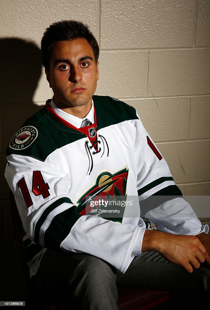 Alex Tuch of the Minnesota Wild poses for a portrait during the 2014 NHL Draft at the Wells Fargo Center on June 27, 2014 in Philadelphia, Pennsylvania.