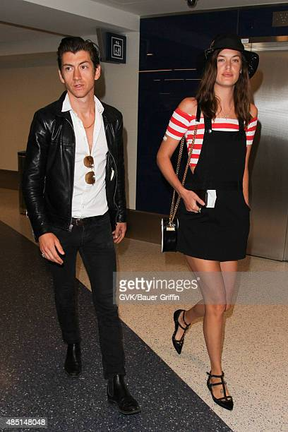 Alex Turner and Arielle Vandenberg seen at LAX on August 24 2015 in Los Angeles California
