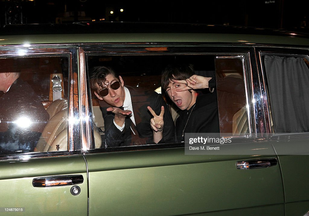 <a gi-track='captionPersonalityLinkClicked' href=/galleries/search?phrase=Alex+Turner&family=editorial&specificpeople=706618 ng-click='$event.stopPropagation()'>Alex Turner</a> (L) and <a gi-track='captionPersonalityLinkClicked' href=/galleries/search?phrase=Miles+Kane&family=editorial&specificpeople=4860678 ng-click='$event.stopPropagation()'>Miles Kane</a> attend the opening of the new Spencer Hart shop on September 13, 2011 in London, England.