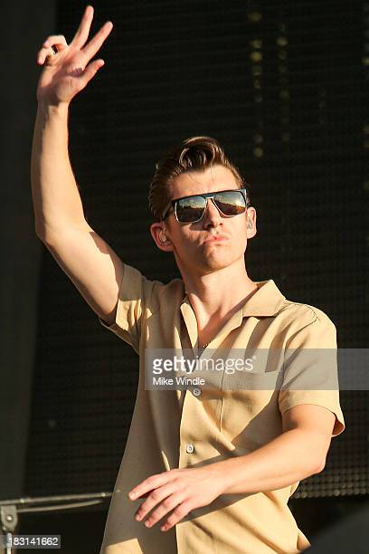 Alex Turner of Arctic Monkeys performs onstage during Day 1 of the 2013 Austin City Limits Music Festival at Zilker Park on October 4 2013 in Austin...