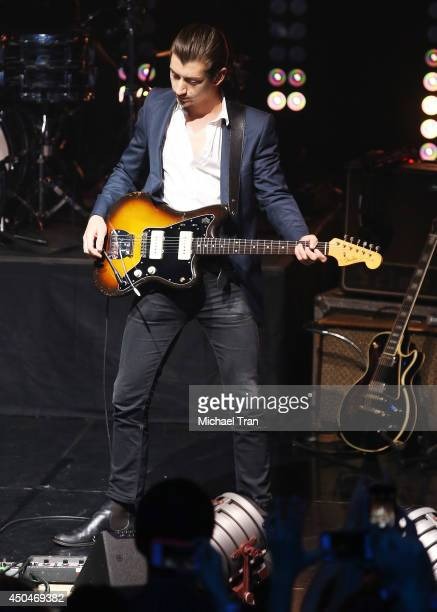Alex Turner of Arctic Monkeys performs onstage during iHeartRadio Live Series With Arctic Monkeys held at iHeartRadio Theater on June 11 2014 in...
