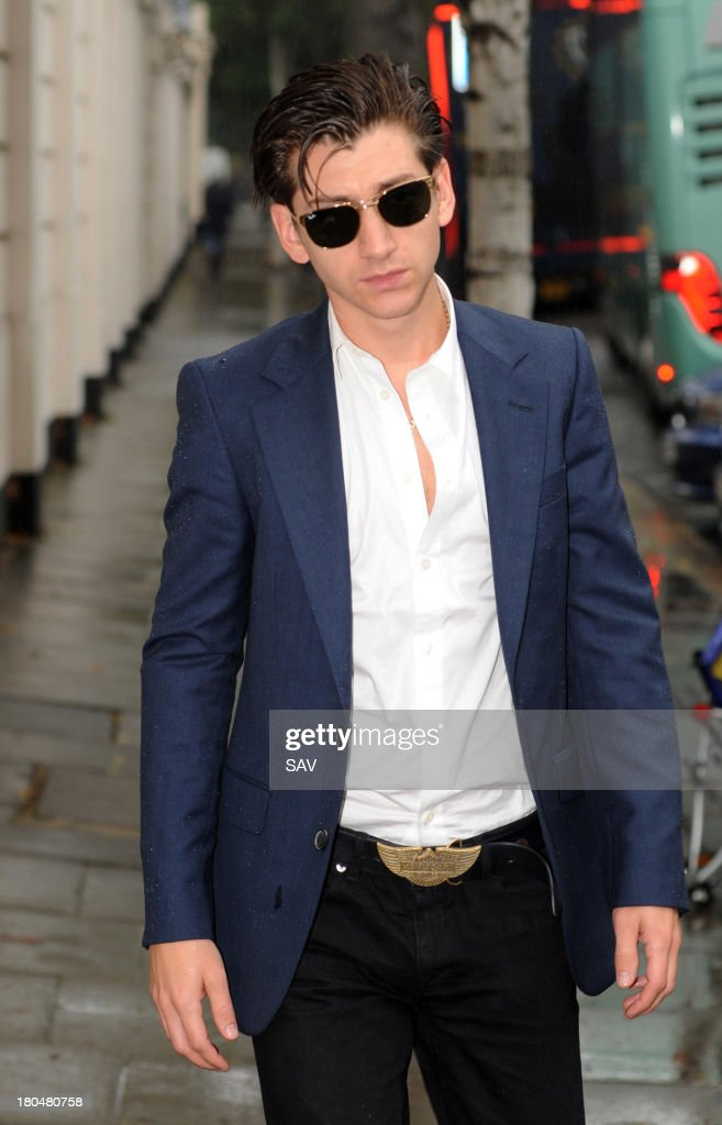 Alex Turner Sightings In London - September 13, 2013