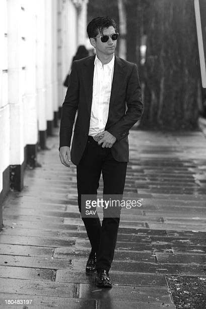 Alex Turner of Arctic Monkeys sighted at the BBC Maida Vale studios on September 13 2013 in London England