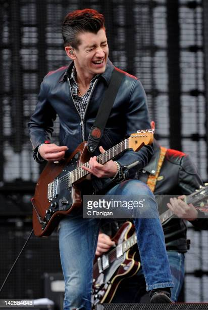 Alex Turner of Artic Monkeys performs during the 2012 Coachella Music Festival at The Empire Polo Club on April 13 2012 in Indio California