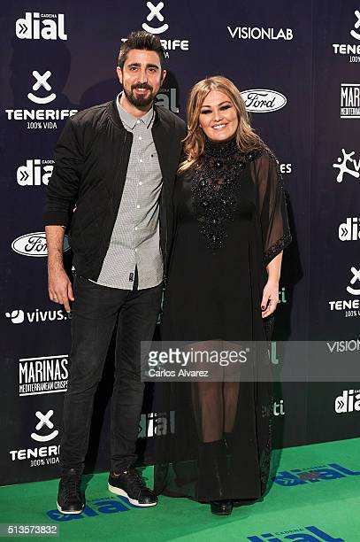 Alex Ubago and Amaia Montero attend the 'Cadena Dial' 2015 awards at the Recinto Ferial on March 3 2016 in Tenerife Spain