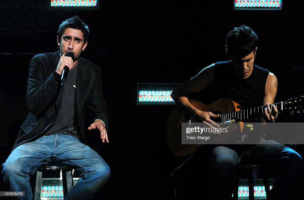 Alex Ubago (left) during MTV Video Music Awards Latin America 2004 - Show at Jackie Gleason Theater in Miami, Florida, United States.