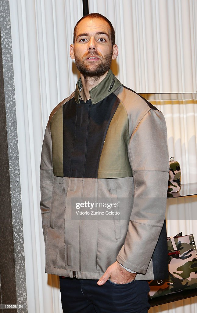 Alex Uhlman attends Valentino Cocktail Party as part of Milan Fashion Week Menswear Autumn/Winter 2013 on January 12, 2013 in Milan, Italy.