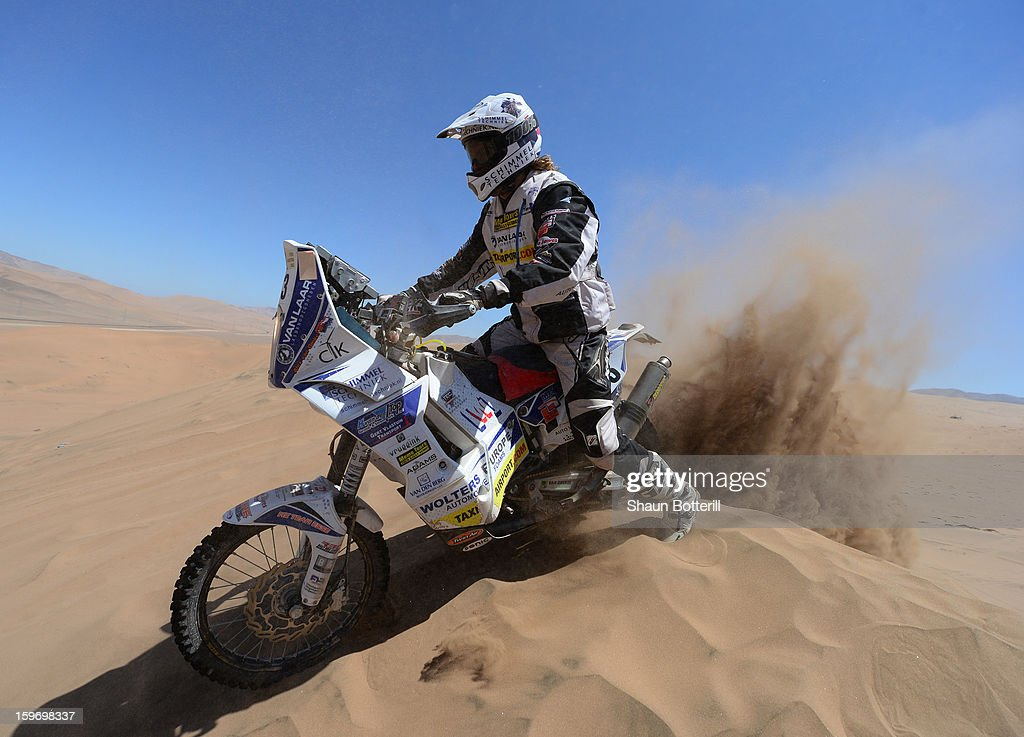 Alex Van Ginkel of Team Memo Tours competes in stage 13 from Copiapo to La Serena during the 2013 Dakar Rally on January 18 in Copiapo, Argentina.