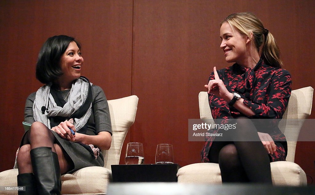Alex Wagner and Piper Perabo attend the Glamour And L'Oreal Paris Celebration for the Top Ten College Women at The Diana Center At Barnard College on April 3, 2013 in New York City.