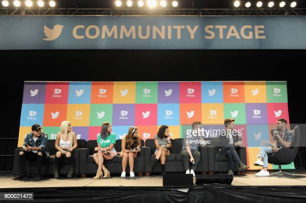 Alex Wassabi Tana Mongeau Gabby Hannah Angela Russett Liza Koshy Tyler Oakley Joey Graceffa and Phillip Picardi appear at Escape the Night 2 panel...