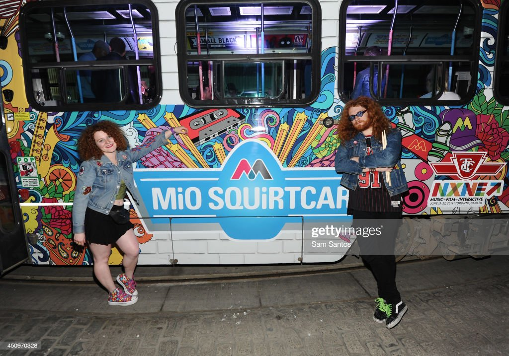 Alex White and Francis White of White Mystery attend the MiO Squirtcar - Day 3 on June 20, 2014 in Toronto, Canada.