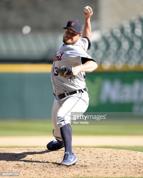 Alex Wilson of the Detroit Tigers pitches against the Chicago White Sox on April 6 2017 at Guaranteed Rate Field in Chicago Illinois The White Sox...