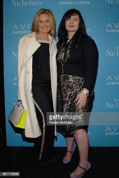 Alex Witt and Jennifer Nicholson attend Jennifer Nicholson Fall 2005 Fashion Show at The Atelier at Bryant Park on February 8 2005 in New York City