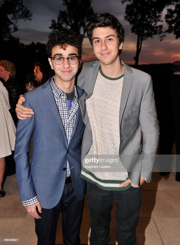 <a gi-track='captionPersonalityLinkClicked' href=/galleries/search?phrase=Alex+Wolff&family=editorial&specificpeople=4183928 ng-click='$event.stopPropagation()'>Alex Wolff</a> (L) and <a gi-track='captionPersonalityLinkClicked' href=/galleries/search?phrase=Nat+Wolff&family=editorial&specificpeople=4183919 ng-click='$event.stopPropagation()'>Nat Wolff</a> attend a reception hosted by Ted and Lynn Leonsis celebrating the 2013 Audi Best Buddies Challenge: Washington, DC on October 18, 2013 in Potomac, Maryland.